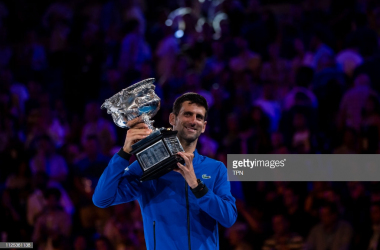 Novak Djokovic moves one step closer to holding all four Grand Slams for the second time in his career (Image source: TPB/Getty Images)