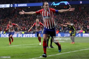 Godin celebrates a goal (Image from Getty Images/Angel Martinez)