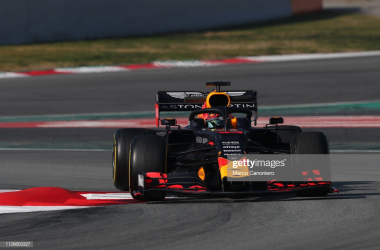 Red Bull during the first test in Barcelona (Photo Credit: Marco Canoniero, Getty Images)