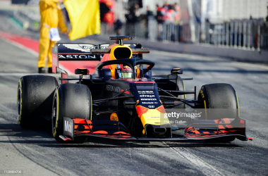 Gasly putting miles on the new RB15 during testing (Photo Credit: Pablo Guillen, Getty Images)