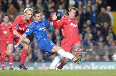 Chelsea v Liverpool UEFA Champions League at Stamford Bridge 6th December 2005. (Photo by David Ashdown/Getty Images)