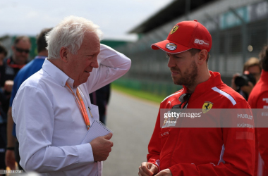 Charlie Whiting talking to Sebastian Vettel the day before his passing (Photo Credit: Octane, Getty Images)