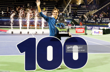 ATP Dubai: Roger Federer claims historic 100th career title with victory over Stefanos Tsitsipas