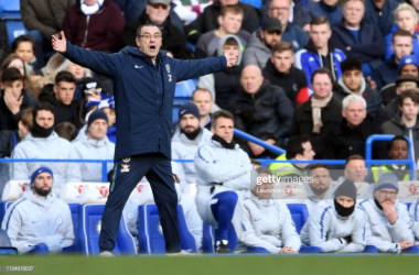 "<a href=""https://media.gettyimages.com/photos/maurizio-sarri-manager-of-chelsea-reacts-during-the-premier-league-picture-id1134918037"">P</a>hoto: Getty Images."