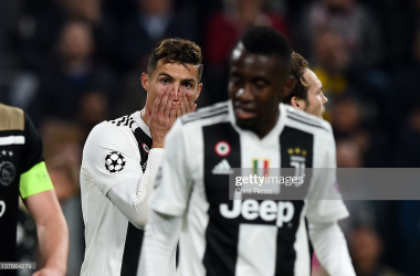 A stunned Cristiano Ronaldo and Blaise Matuidi after Juventus' 2018 Champions League exit to Ajax  (Getty Images/Chris Ricco)