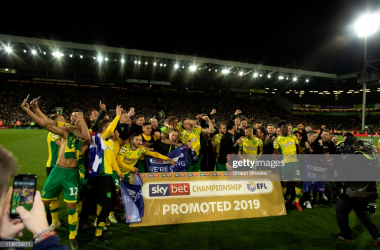 Norwich City will be in the Premier League next season/Photo: Shaun Brooks/Getty Images