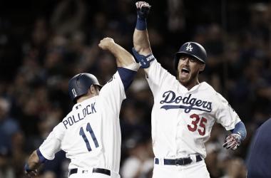 Pollock durante un encuentro con Dodgers / Foto: Getty Images