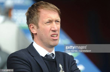 Graham Potter in the dugout last season. Image courtesy of Kevin Barnes from Camera Sport on Getty Images.