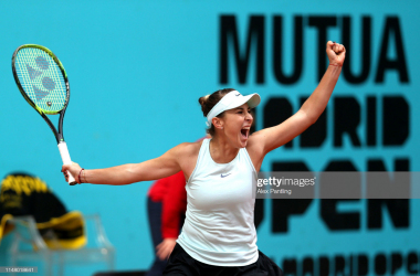 Bencic celebrates victory/Photo: Alex Pantling/Getty Images