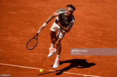 Federer in action (Getty Images/Clive Mason)