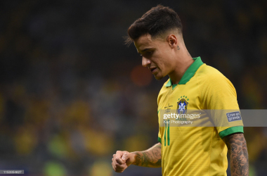 <div>BELO HORIZONTE, BRAZIL - JULY 02: Philippe Coutinho of Brasil during the Copa America Brazil 2019 Semi Final match between Brazil and Argentina at Mineirao Stadium on July 2, 2019 in Belo Horizonte, Brazil. (Photo by Kaz Photography/Getty Images)</div><div><br></div>