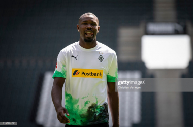 Marcus Thuram was unveiled on Monday (Image from Getty Images/Christian Verheyen)