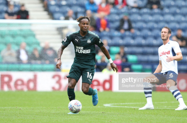 PRESTON, ENGLAND - JULY 27: Newcastle United's Ronaldo Aarons during the Pre-Season Friendly match between Preston North End and Newcastle United at Deepdale on July 27, 2019 in Preston, England. (Photo by Stephen White - CameraSport via Getty Images)
