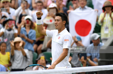 Nishikori will compete in back-to-back fourth rounds at Wimbledon (Image source: Shaun Botterill/Getty Images)