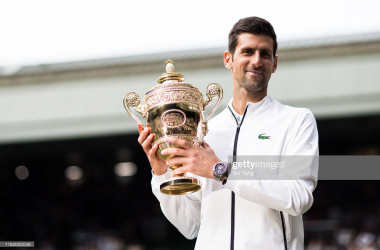Djokovic has now won back-to-back Wimbledon titles for the second time in his career (Image source: Shi Tang/Getty Images)