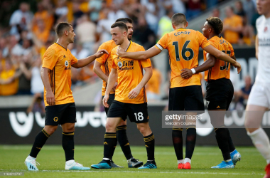 Wolves dominated from start to finish and are now one step closer to reaching the group phase of the Europa League. (Photo by Malcolm Couzens/Getty Images)