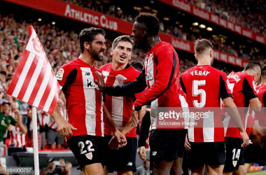 Raul Garcia celebrates his goal with <span>Iñaki Williams (Gettyimages/Soccrates Images)</span>
