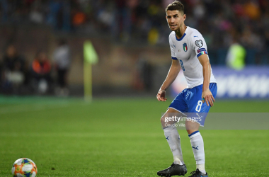 Jorginho pulling the strings vs. Armenia (Getty Images/Claudio Villa)