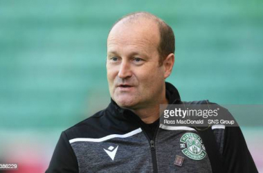 Grant Scott whilst in charge of Hibernian Women (Photo credit Getty-Ross MacDonald)