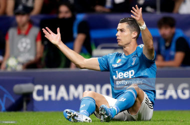Juventus' Cristiano Ronaldo in disbelief during their 2-2 Champions League draw to Atletico Madrid midweek (Getty Images/Soccrates Images/Jeroen Meuwsen)