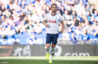 <div>LEICESTER, ENGLAND - SEPTEMBER 21: Harry Kane of Tottenham Hotspur during the Premier League match between Leicester City and Tottenham Hotspur at The King Power Stadium on September 21, 2019 in Leicester, United Kingdom. (Photo by Sebastian Frej/MB Media/Getty Images)</div><div><br></div>