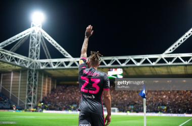 Kalvin Phillips of Leeds United during the Sky Bet Championship match between Preston North End and Leeds United at Deepdale, Preston on Tuesday 22nd October 2019. (Photo by Pat Scaasi/MI News/NurPhoto via Getty Images)