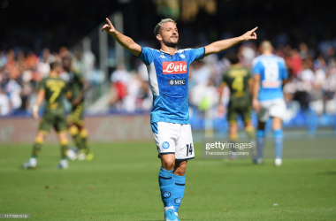 Dries Mertens celebrating his goal against Brescia on the weekend (Getty Images/Francesco Pecoraro)