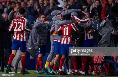 Atlético Madrid celebrates Morata winner (gettyimages/Quality Sport Images)