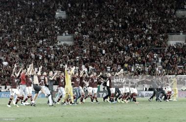VA POR TODO. Flamengo quiere gritar campeón en el campeonato doméstico y en la Libertadores. Foto: Getty images