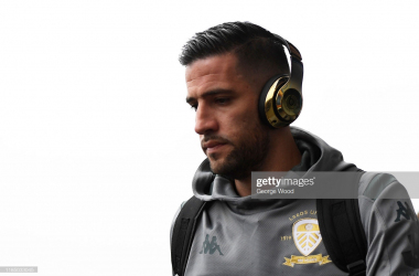 LEEDS, ENGLAND - NOVEMBER 02: Kiko Casilla of Leeds United arrives prior to the Sky Bet Championship match between Leeds United and Queens Park Rangers at Elland Road on November 02, 2019 in Leeds, England. (Photo by George Wood/Getty Images)