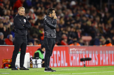 Quique Sanches Flores looks resigned to his fate following defeat away to Southampton
