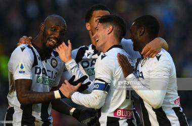 Udinese's Rodrigo de Paul celebrates his goal during their win against Sassuolo (Getty Images/Alessandro Sabattini)