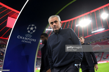 <div>MUNICH, GERMANY - DECEMBER 11: Jose Mourinho, Manager of Tottenham Hotspur looks on prior to the UEFA Champions League group B match between Bayern Muenchen and Tottenham Hotspur at Allianz Arena on December 11, 2019 in Munich, Germany. (Photo by Michael Regan/Getty Images)</div><div><br></div>