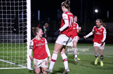 Arsenal 1-0 Reading: Kim Little's last minute brace takes Arsenal into semifinals