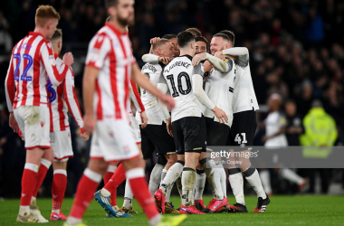 Derby County 4-0 Stoke City: Rampant Rams dominate Potters for biggest win of season