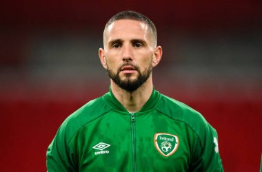 Conor Hourihane of Republic of Ireland during the International Friendly match between England and Republic of Ireland at Wembley Stadium in London, England. (Photo By Stephen McCarthy/Sportsfile via Getty Images)