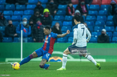 <div>Nathaniel Clyne of Crystal Palace and Son Heung-min of Tottenham Hotspur in action during the Premier League match between Crystal Palace and Tottenham Hotspur at Selhurst Park on December 13, 2020 in London, United Kingdom. (Photo by Sebastian Frej/MB Media/Getty Images)</div><div><br></div>