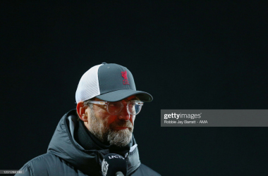 <div>LIVERPOOL, ENGLAND - FEBRUARY 20: Jurgen Klopp the head coach / manager of Liverpool during the Premier League match between Liverpool and Everton at Anfield on February 20, 2021 in Liverpool, United Kingdom. Sporting stadiums around the UK remain under strict restrictions due to the Coronavirus Pandemic as Government social distancing laws prohibit fans inside venues resulting in games being played behind closed doors. (Photo by Robbie Jay Barratt - AMA/Getty Images)</div><div><br></div>