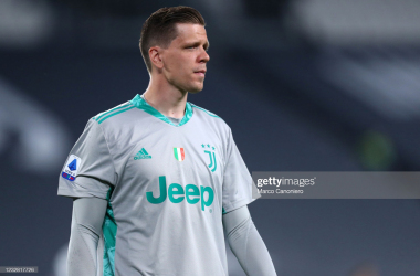 ALLIANZ STADIUM, TORINO, ITALY - 2021/05/09: Wojciech Szczesny of Juventus Fc looks on during the Serie A match between Juventus Fc and Ac Milan. Ac Milan wins 3-0 over Juventus Fc. (Photo by Marco Canoniero/LightRocket via Getty Images
