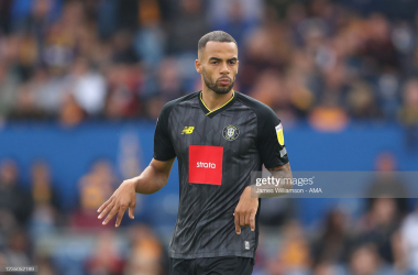 Above: Harrogate Town's Warren Burrell, who has had a positive start to the season. (Photo taken by James Williamson/Getty Images)