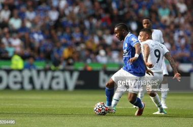 Ademola Lookman and Gabriel Jesus battle for possesion
