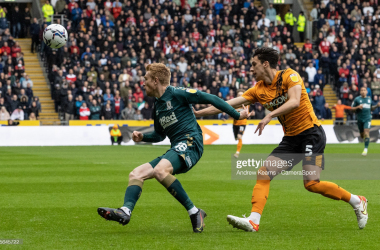 <div>HULL, ENGLAND - OCTOBER 02: Middlesbrough's Duncan Watmore competing with Hull City's Alfie Jones during the Sky Bet Championship match between Hull City and Middlesbrough at KCOM Stadium on October 2, 2021 in Hull, England. (Photo by Andrew Kearns - CameraSport via Getty Images)</div><div><br></div>