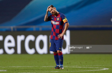 Lionel Messi couldn't prevent Barcelona's humiliation at the hands of Bayern Munich (Source: Getty Images)