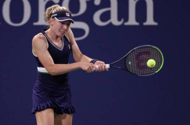 US Open: Ekaterina Alexandrova rallies past Kim Clijsters