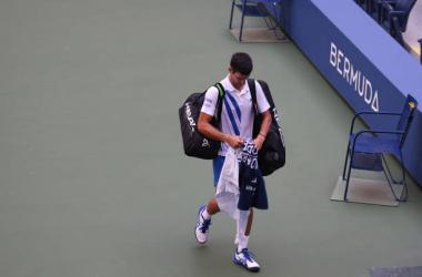 US Open: Novak Djokovic defaulted against Pablo Carreno Busta