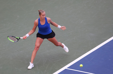 US Open: Shelby Rogers saves match points to edge past Petra Kvitova