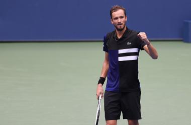 US Open: Daniil Medvedev slides past Andrey Rublev to reach last four
