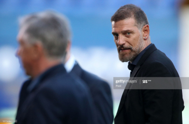 Slaven Bilic, Manager of West Bromwich Albion speaks to the media after the Premier League match between Everton and West Bromwich Albion at Goodison Park on September 19, 2020 in Liverpool, England. (Photo by Nick Potts - Pool/Getty Images)