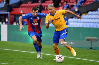 Richarlison and Everton come up against Crystal Palace again on Monday (Photo by Justin Setterfield/Getty Images)