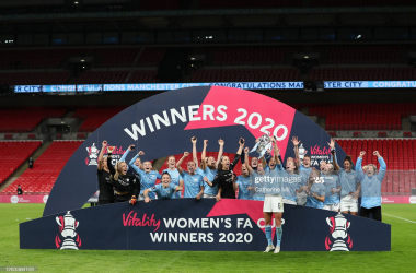 Everton 1-3 Manchester City Women: City lift third FA Cup in four years